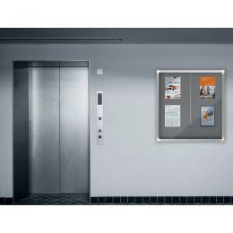 nobo Schaukasten Premium Plus, Filz-Rückwand, 12 x DIN A4