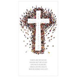 SUSY CARD Konfirmationskarte Kreuz aus vielen Menschen