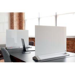 nobo Glas-Desktoptafel, (B)600 x (H)450 mm, weiß