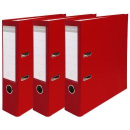 EXACOMPTA PP-Ordner Premium, A4, 80 mm, rot, 3er Pack
