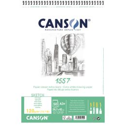 CANSON Zeichenpapierblock 1557, DIN A5, 120 g/qm, 50 Blatt