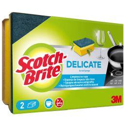 Scotch-Brite Universalschwamm DELICATE, Farbe: gelb/blau