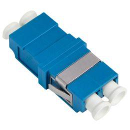 LogiLink LWL Kupplung, 2x LC-Duplex, Singlemode, blau