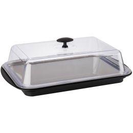 APS Thermo Tablett-Set, eckig, schwarz/transparent