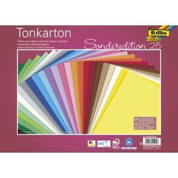 folia Tonkarton, (B)250 x (H)350 mm, 220 g/qm, sortiert