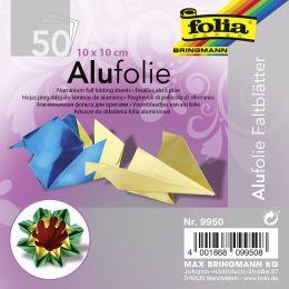 folia Alu-Faltblätter, 100 x 100 mm, 50 Blatt, sortiert