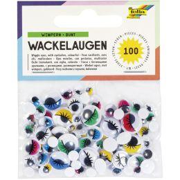 folia Wackelaugen mit Wimpern, nicht selbstklebend