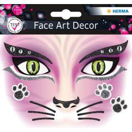 HERMA Face Art Sticker Gesichter Pink Cat