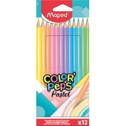 Maped Dreikant-Buntstift COLORPEPS Pastel, 12er Kartonetui
