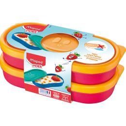 Maped PICNIK Snackbox KIDS CONCEPT, 2er Set, 150 ml, pink