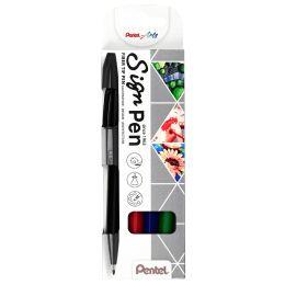 PentelArts Faserschreiber Sign Pen S520, 4er Etui
