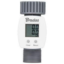 Bradas Digitaler Wasserzähler WHITE LINE, 3/4, grau/weiß