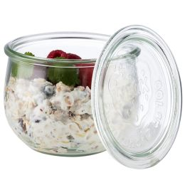 APS Weck-Glas mit Deckel, Tulpen-Form, 75 ml, 12er Set