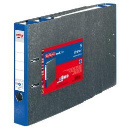 herlitz Ordner maX.file nature, A4, 50 mm, blau, 5er Pack