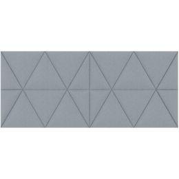 PAPERFLOW Akustik-Wandpaneel easySound, 1.120 x 485 mm, grau