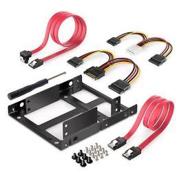 DIGITUS Einbaurahmen für 2,5 Festplatten, inkl. Kabelset
