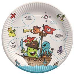PAPSTAR Papp-Teller Pirate Crew, rund, 230 mm