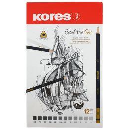 Kores Bleistift Grafitos Art, 12er Metalletui
