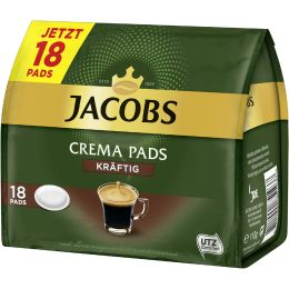 JAKOBS Kaffeepads CREMA PADS KRÄFTIG, 18er Packung