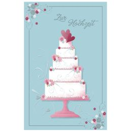 SUSY CARD Hochzeitskarte riesige Torte