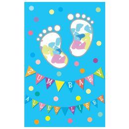 SUSY CARD Geburtskarte Junge Konfetti Füße