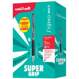 uni-ball Gel-Tintenroller SIGNO 207, VALUE PACK, schwarz
