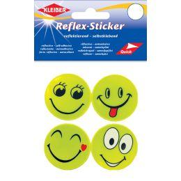 KLEIBER Reflex-Sticker Happy Face, gelb