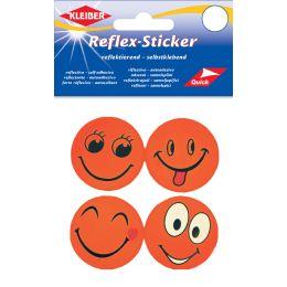 KLEIBER Reflex-Sticker Happy Face, orange