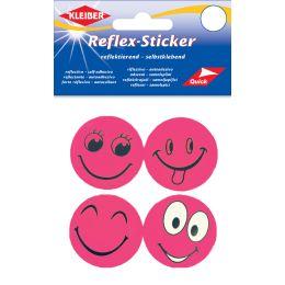 KLEIBER Reflex-Sticker Happy Face, pink