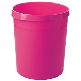 HAN Papierkorb GRIP Trend Colour, 18 Liter, rund, pink