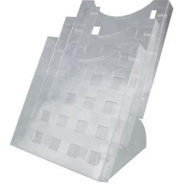 helit 3er Tisch-Prospekthalter, DIN A4 hoch, glasklar