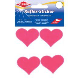 KLEIBER Reflex-Sticker Herzen, neonpink