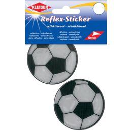 KLEIBER Reflex-Sticker Fußball, silber