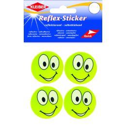 KLEIBER Reflex-Sticker Happy Face big eyes, gelb
