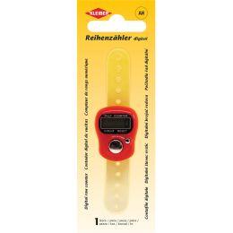 KLEIBER Digitaler Reihenzähler für Strickarbeiten, rot