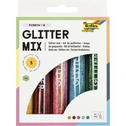 folia Glitter-Mix Rainbow, 5 Tuben à 14 g