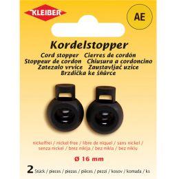 KLEIBER Kordelstopper, Kunststoff, schwarz
