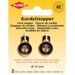 KLEIBER Kordelstopper, Metall, silber