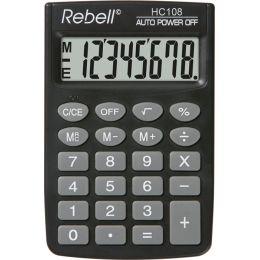 Rebell Taschenrechner HC 108, schwarz