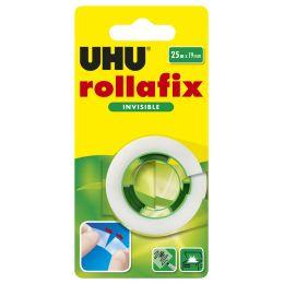 UHU Klebefilm rollafix invisible, 19 mm x 25 m