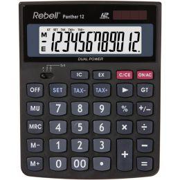 Rebell Tischrechner Panther 12, schwarz
