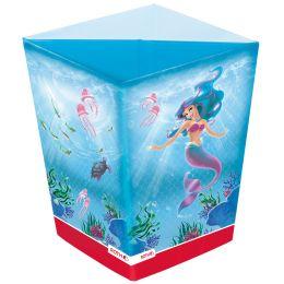 ROTH Papierkorb Meerjungfrau, aus Karton, 10 Liter