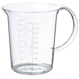 plast team Messbecher Palermo, 1,0 Liter, transparent