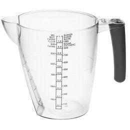 plast team Messbecher, 1,0 Liter, transparent