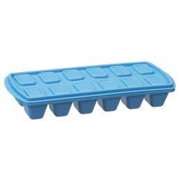 plast team Eiswürfelform, mit Deckel, blau