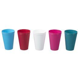 plast team Trinkbecher Hawaii Cup, 0,4 Liter, sortiert