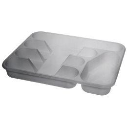 plast team Besteckkasten, 5 Fächer, silber