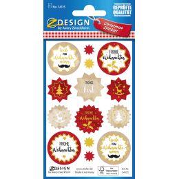 AVERY Zweckform ZDesign Weihnachts-Sticker Wünsche