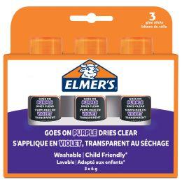 ELMERS Klebestift Disappearing Purple, 6 g, 3er Blister