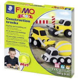 FIMO kids Modellier-Set Form & Play Construction trucks